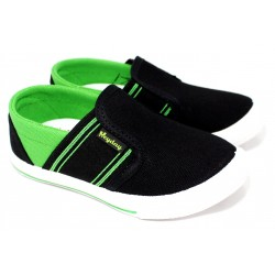 Pancha De Lona Con Elastico Color Negro - Hey Day