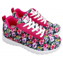 Zapatilla Ultraliviana Estampada Flores - Footy