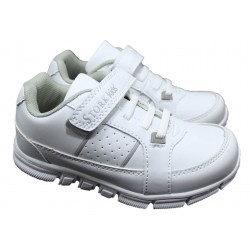 Zapatilla Con Cordon Color Blanco - Stork Kids