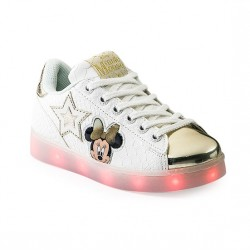 Zapatilla Reptil Con Luces Led Recargables Color Blanco - Addnice