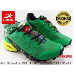 Deportiva Running/treking Tipo Salomon Color Verde