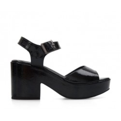Luisana- Sandalia Negra  Base Supercomfort